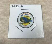 2002 D LOUISIANA COLORIZED CLAD STATE QUARTER