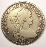 1800 DRAPED BUST SILVER DOLLAR $1 - FINE / VF DETAILS -  TYPE COIN