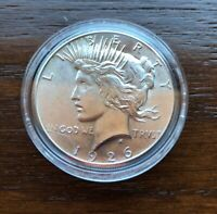 1926 SILVER PEACE DOLLAR IN SHARP BU CONDITION  LOW MINTAGE