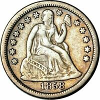 1858 O SEATED LIBERTY DIME  LOW MINTAGE