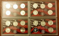 SILVER QUARTER PROOF SETS 2004 2005 2006 AND 2007