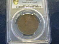 AUSTRALIA PENNY 1920 RARE DOT ABOVE TOP SCROLL INDIAN DIE PC