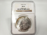 1904-O NGC MINT STATE 63 MORGAN SILVER DOLLAR ESTATE FIND 817-181