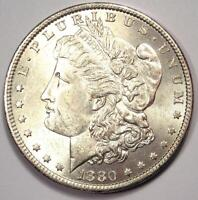 1880-O MORGAN SILVER DOLLAR $1 COIN - EXCELLENT CONDITION - STRONG LUSTER