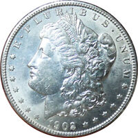 1902-O MORGAN SILVER DOLLAR AU CONDITION - BMY