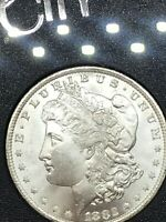 1882 CC UNCIRCULATED MORGAN SILVER DOLLAR WITH COA AND PACKAGING.  BU