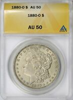1880-O $1 MORGAN DOLLAR ANACS AU50