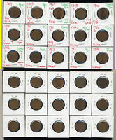 LOT OF 50 LINCOLN CENTS  INCLUDES 1909 S 1914 D