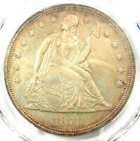 1871 PROOF SEATED LIBERTY SILVER DOLLAR $1 COIN   PCGS PROOF DETAILS  PR/PF