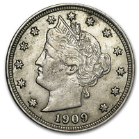 1909 LIBERTY HEAD V NICKEL AU - SKU196086