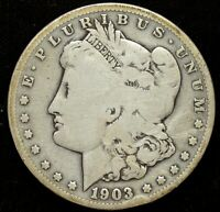 1903 S, MORGAN SILVER DOLLAR, GOOD PLUS CONDITION, TOUGH DATE, FREE SHIP, C4385