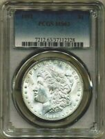 1892 MORGAN PCGS MINT STATE 63 SILVER DOLLAR COIN PHILADELPHIA MINT UNCIRCULATED  $1