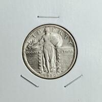 1920 STANDING LIBERTY QUARTER - ABOUT UNCIRCULATED - GREAT LOOKING PIECE