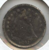1841-O SEATED LIBERTY HALF DIME - NEW ORLEANS MINT BD186