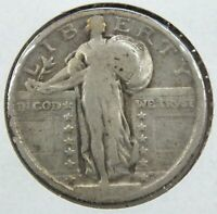 1918 STANDING LIBERTY QUARTER - PHILADELPHIA MINT BD297