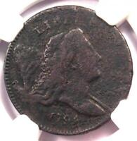 1794 LIBERTY CAP FLOWING HAIR HALF CENT 1/2C   NGC FINE DETAIL    COIN