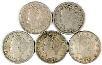 LOT OF 5 1883