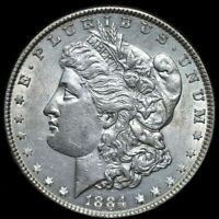 1884 P MORGAN DOLLAR, ALMOST UNCIRCULATED CONDITION, SILVER, FREE SHIP, C4410