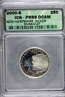 2000   S ICG PR69 DCAM NEW HAMPSHIRE STATEHOOD QUARTER  B189