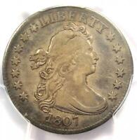 1807 DRAPED BUST QUARTER 25C   CERTIFIED PCGS VF DETAILS    COIN