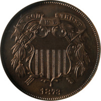 1873 TWO  2  CENT PIECE PROOF CLOSED 3 NGC PF64RD