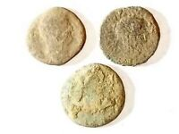 3 ANCIENT ROMAN COINS AE2 LARGE   UNCLEANED AND AS FOUND