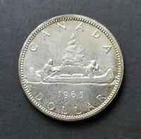 1965 MS CANADIAN SILVER DOLLAR COIN $1 CANADA