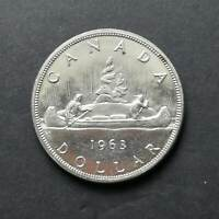 1963 BU TO MS CANADIAN SILVER DOLLAR COIN $1 CANADA
