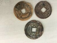 3 ANCIENT CHINESE COINS