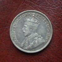 CANADA 1913 SILVER 25 CENTS
