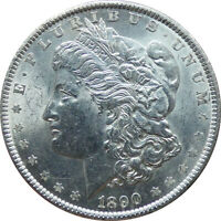 1890-P MORGAN SILVER DOLLAR UNC CONDITION - B