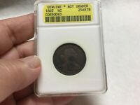 1803 DRAPED BUST HALF CENTS LOW MINTAGE  GENUINE  CORRODED NOT GRADED ANACS