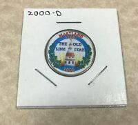 2000 D MARYLAND COLORIZED CLAD STATE QUARTER