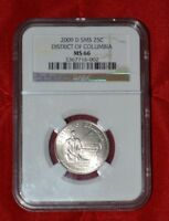 2009 D SMS NGC MS 66 DISTRICT OF COLUMBIA DC & US TERRITORY