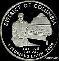 2009 S SILVER DISTRICT OF COLUMBIA DEEP CAMEO GEM PROOF NO R