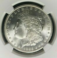 1885-O MORGAN SILVER DOLLAR - NGC MINT STATE 64 BEAUTIFUL COIN REF003