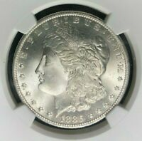 1885-O MORGAN SILVER DOLLAR - NGC MINT STATE 65 BEAUTIFUL COIN REF003