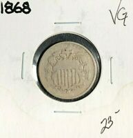 1868 SHIELD NICKEL  VG  COIN