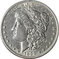 1899-S MORGAN SILVER DOLLAR GREAT DEALS FROM THE EXECUTIVE COIN COMPANY BBDM1009