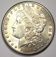 1886-S MORGAN SILVER DOLLAR $1 - EXCELLENT CONDITION -  LUSTER -  DATE