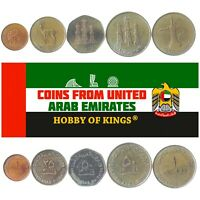 5 COINS: UNITED ARAB EMIRATES. OLD COLLECTIBLE CURRENCY. MIDDLE EAST  UAE  MONEY