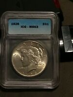 1926 PEACE DOLLAR $1 MINT STATE 63
