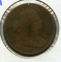 1802 LARGE CENT DRAPED BUST 1C COIN - RW936