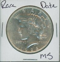 1926 D PEACE DOLLAR $1 US MINT COIN  DATE SILVER COIN 1926-D MS