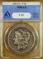 1895-O ANACS F12 MORGAN DOLLAR - BETTER DATE