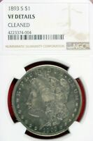 1893 - S VF DETAILS CLEANED MORGAN SILVER DOLLAR  HD0004