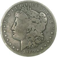 1880 O MORGAN SILVER DOLLAR SMALL O FINE FN SEE PHOTOS B775