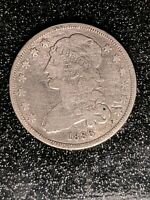 1836 CAPPED BUST QUARTER  F/VF