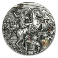 SPARTACUS SLAVE REVOLT GREAT COMMANDERS 2 OZ SILVER COIN 5$