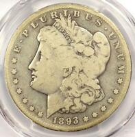 1893-S MORGAN SILVER DOLLAR $1 - CERTIFIED PCGS VG DETAILS -  KEY COIN